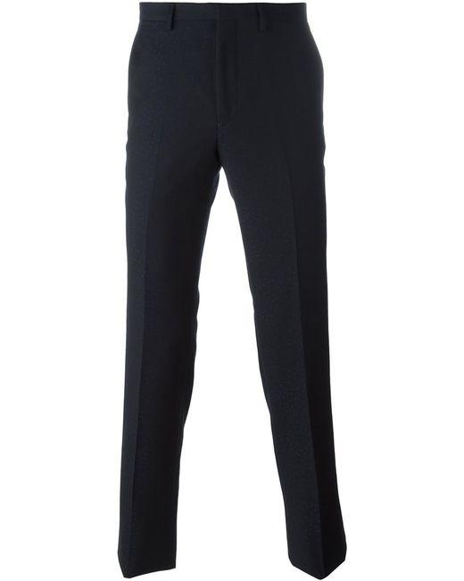 Kenzo | Мужское Синий Slim Jacquard Trousers 48 Virgin Wool