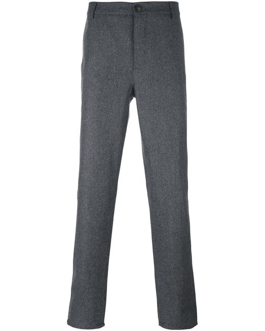 Brunello Cucinelli | Мужское Серый Tailored Trousers 50 Cotton/Viscose/Wool