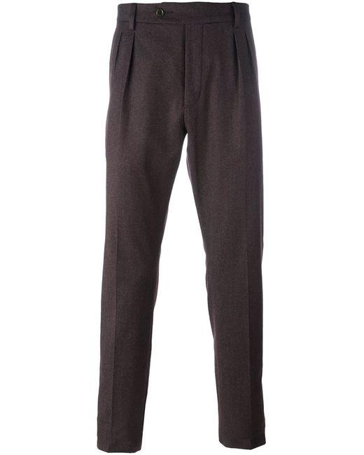AL DUCA D'AOSTA   Мужское Розовый 1902 Tapered Pleat Detail Trousers 46