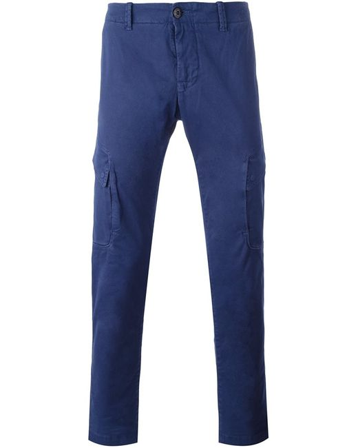 Stone Island | Мужское Синий Cargo Pocket Trousers 34 Cotton/Spandex/Elastane