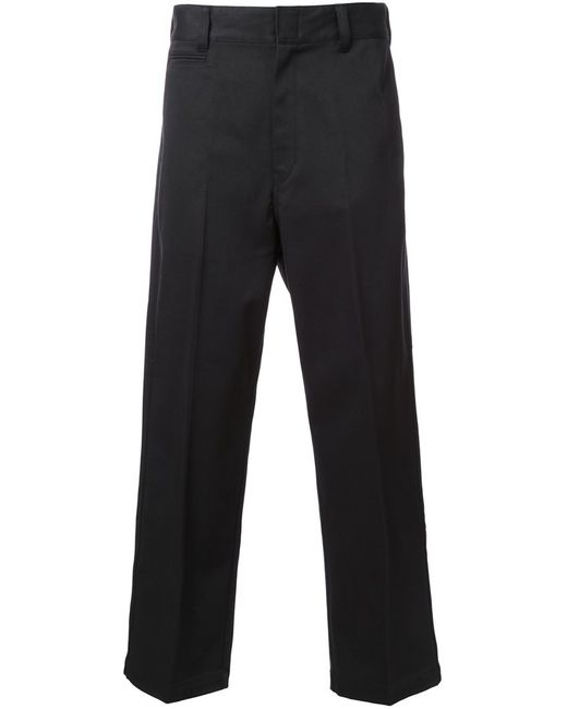 Mr. Gentleman | Мужское Чёрный Mrg Ex Chino Trousers Large Cotton/Polyester/Polyurethane
