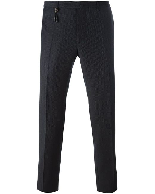 Incotex | Мужское Синий Pattern 82 Slim Fit Trousers 46 Wool
