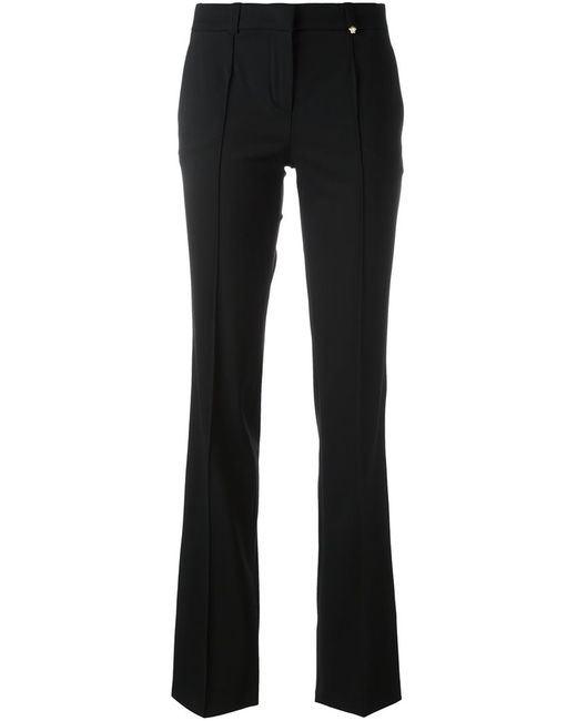Versace | Женское Чёрный Tailored Trim Detail Trousers 42 Spandex/Elastane/Rayon/Wool
