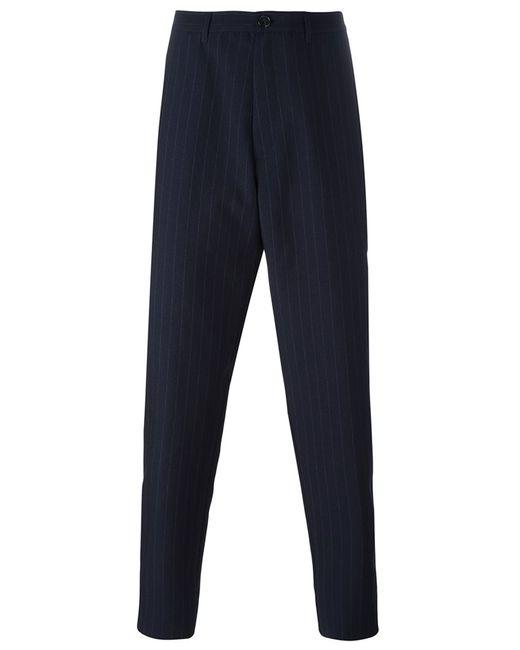 Raf Simons | Мужское Синий Pinstripe Trousers 46 Virgin Wool