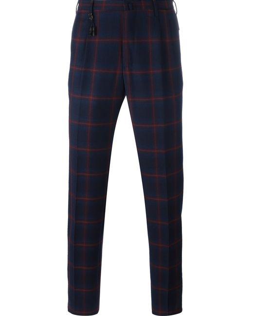 Incotex   Мужское Синий Double Pence Trousers 46 Wool