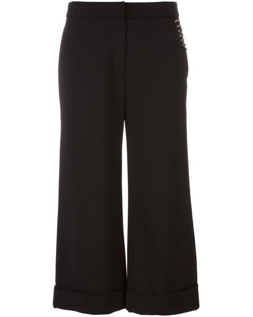 Alexander Wang | Женское Чёрный Ring Detailed Cropped Trousers 4 Polyester/Spandex/Elastane/Virgin