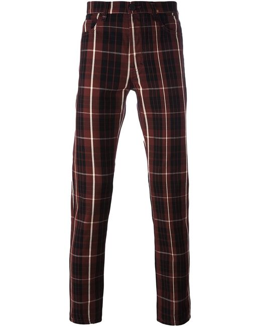 Vivienne Westwood Anglomania | Мужское Красный Checked Trousers 31 Cotton