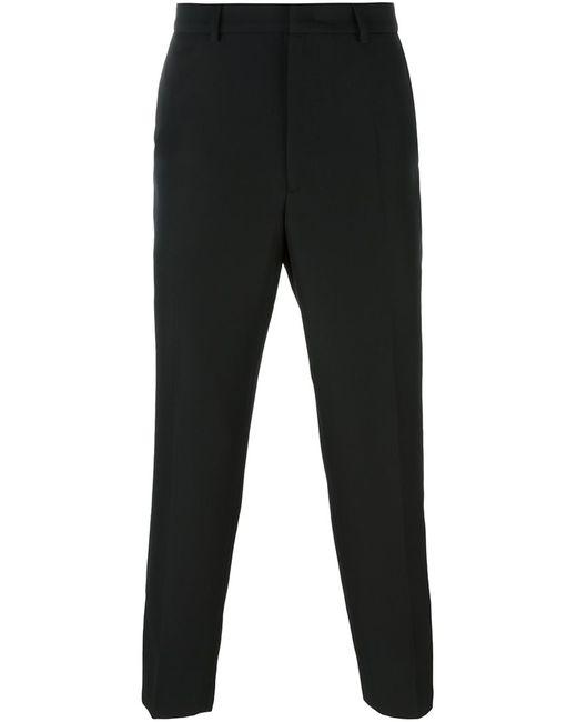 Mcq Alexander Mcqueen | Мужское Чёрный Contrast Detail Trousers 48 Polyurethane/Virgin
