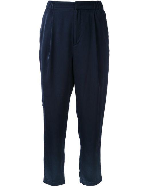 Cityshop | Женское Синий Satin Cropped Trousers 38 Polyester