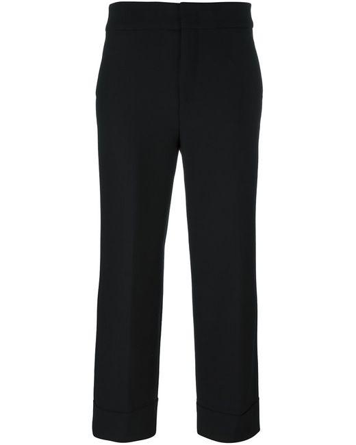 Pt01 | Женское Чёрный Front Pleat Cropped Trousers 42 Polyester/Spandex/Elastane/Virgin Wool