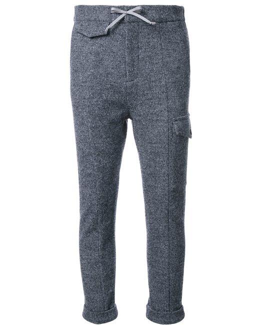 FADTHREE | Женское Серый Drawstring Cropped Track Pants Medium Wool