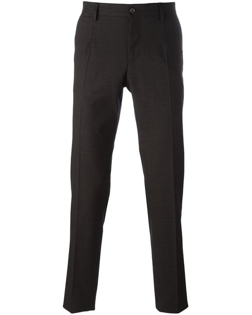 Dolce & Gabbana | Мужское Чёрный Tailored Trousers 48 Cotton/Spandex/Elastane/Virgin Wool