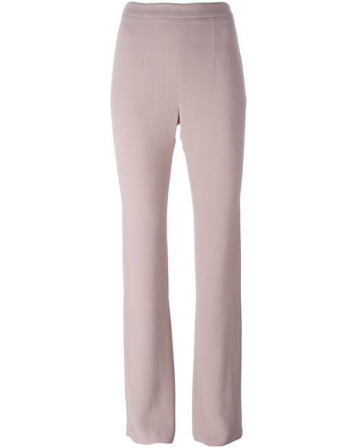 MSGM | Женское Розовый Flared Trousers 42 Polyester/Acetate/Viscose