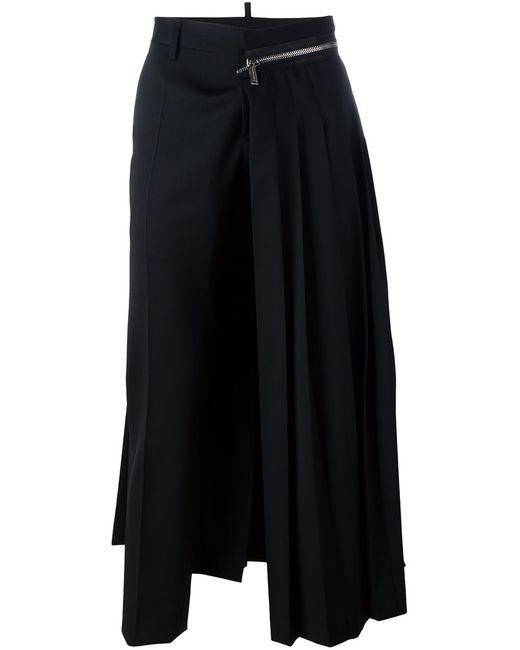 Dsquared2 | Мужское Чёрный Punk Pleated Trousers 50 Spandex/Elastane/Virgin Wool