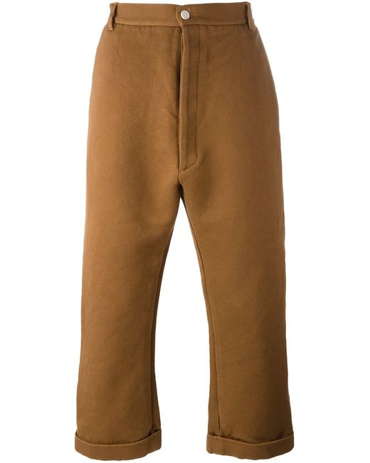 Sunnei | Мужское Коричневый Flared Cropped Trousers Xl Cotton