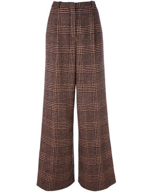 Sonia Rykiel | Женское Чёрный Checked Tweed Trousers 38 Viscose/Wool/Alpaca