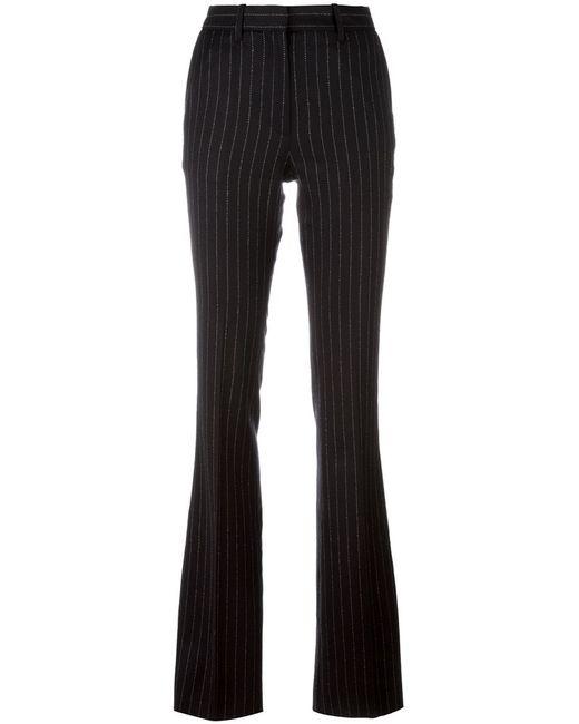 Barbara Bui   Женское Чёрный Pinstriped Flared Trousers 38 Spandex/Elastane/Wool