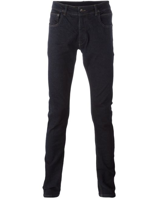 RICK OWENS DRKSHDW | Мужское Синий Slim-Fit Jeans 34 Cotton/Spandex/Elastane/Polybutylene Terephthalate