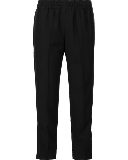 Faith Connexion   Женское Чёрный Cropped Trousers Medium Polyester/Virgin Wool