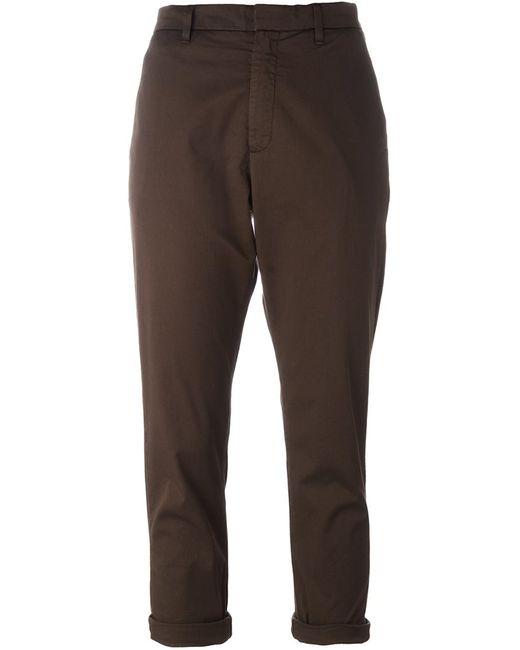 Hope | Женское Зелёный Cropped Trousers 34 Cotton/Spandex/Elastane