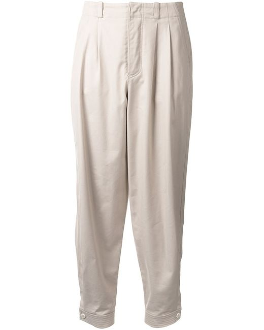 Nehera | Женское Коричневый Pleated Tapered Trousers 34 Silk/Cotton