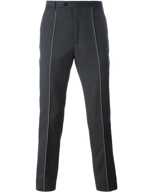 Maison Margiela | Мужское Серый Stitch Detail Tailored Trousers 46 Viscose/Mohair/Virgin