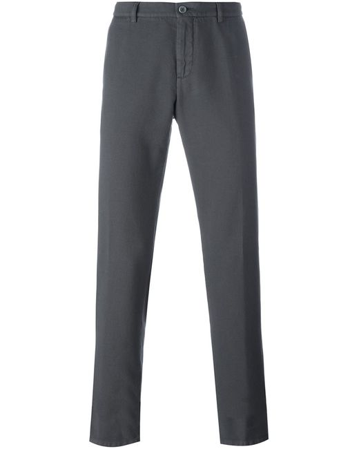 Etro | Мужское Серый Chino Trousers 48 Cotton/Cashmere
