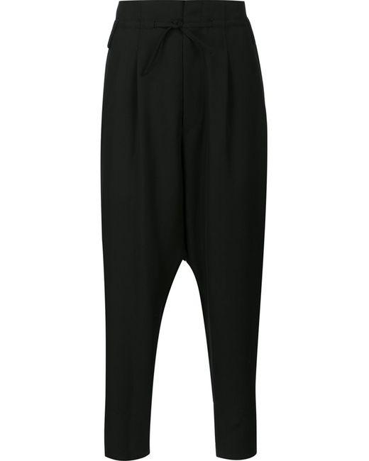 Haider Ackermann   Мужское Чёрный Tapered Trousers Small Cotton/Rayon/Wool