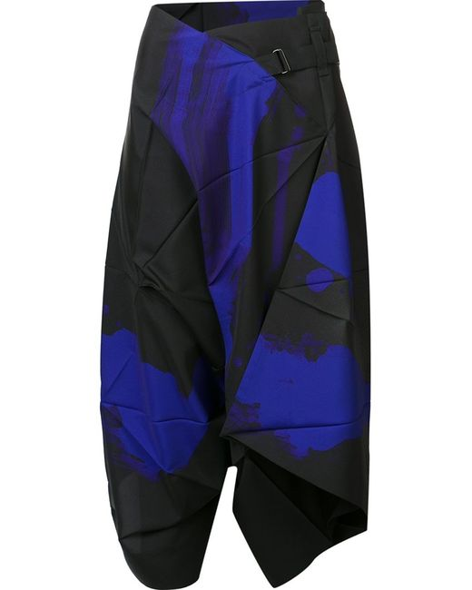 Issey Miyake | Женское Чёрный Napkin Cropped Trousers 3 Polyester