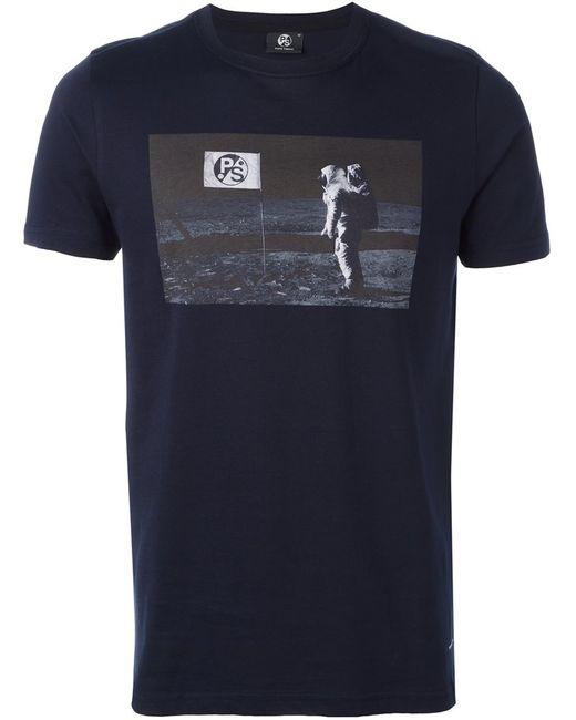 PS PAUL SMITH | Мужское Синий Ps By Paul Smith Printed T-Shirt Small