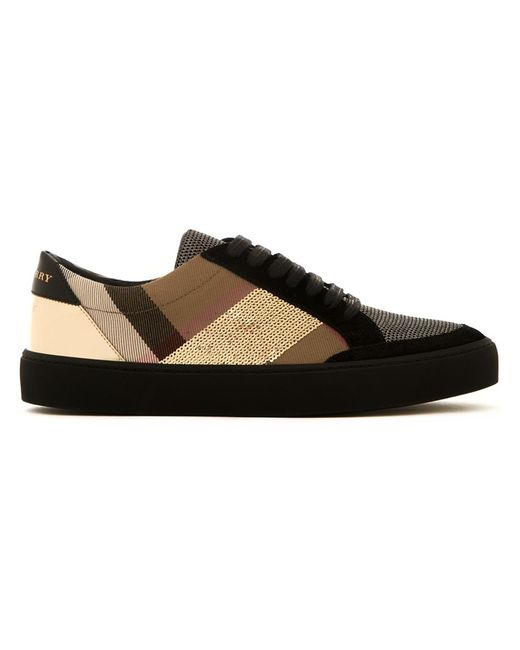 Burberry | Женское Чёрный Chain Embellished Sneakers 39 Calf Leather