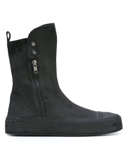 Ann Demeulemeester   Женское Чёрный Round Toe Boots 37 Leather/Rubber