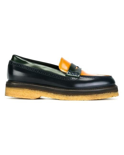 Etro | Женское Colour Block Penny Loafers 39 Leather/Rubber