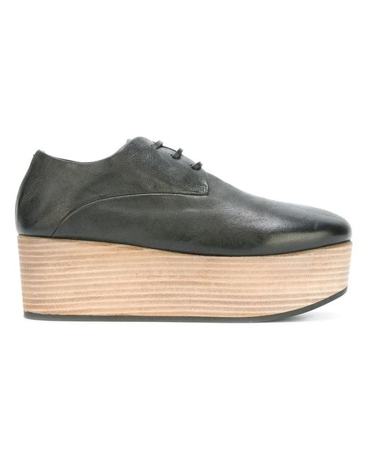 Marsell | Женское Чёрный Marsèll Platform Lace-Up Shoes 36 Calf Leather/Leather/Rubber