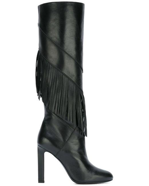 Saint Laurent   Женское Чёрный Grace 105 Boots 35 Calf Leather/Leather