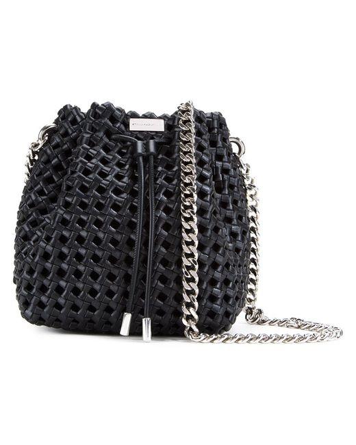 Stella Mccartney   Женское Чёрный Weaved Bucket Bag
