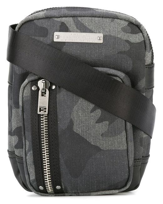 Diesel | Серый Gear Crossbody Bag Cotton/Nylon/Polyurethane