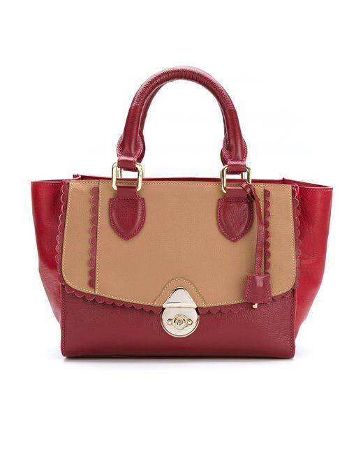 Sarah Chofakian | Женское Красный Leather Bicolor Bag