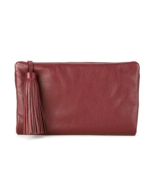Sarah Chofakian   Женское Красный Leather Clutch