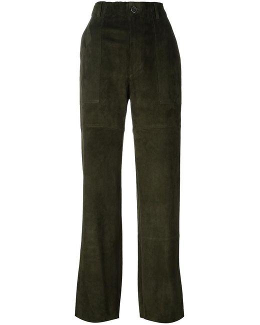 STOULS   Женское Зелёный Tabrouk Velours Trousers Medium Cotton/Spandex/Elastane/Lyocell/Lamb Nubuck Leather