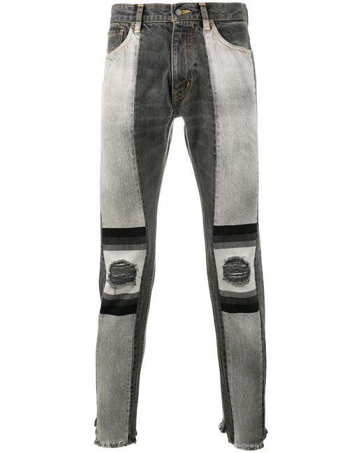 FACETASM | Мужское Чёрный Slim-Fit Jeans 4 Cotton