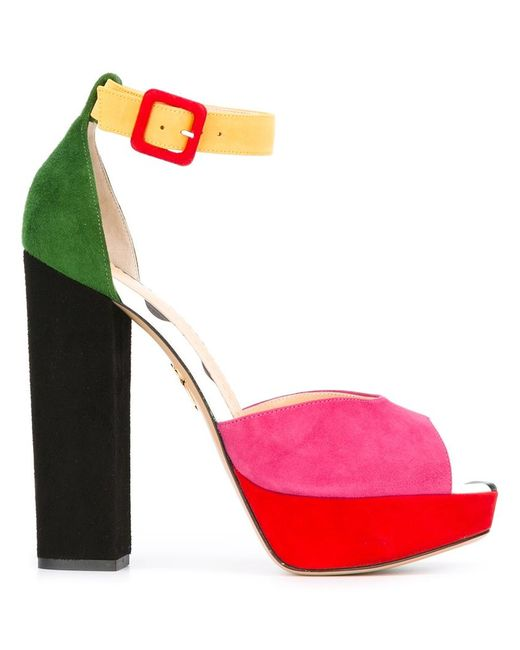 Charlotte Olympia | Женское Чёрный Eugenie Sandals 37 Suede/Leather C17513311757535