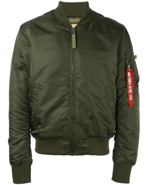 Alpha Industries | Мужское Зелёный Classic Bomber Jacket Medium Nylon/Polyester
