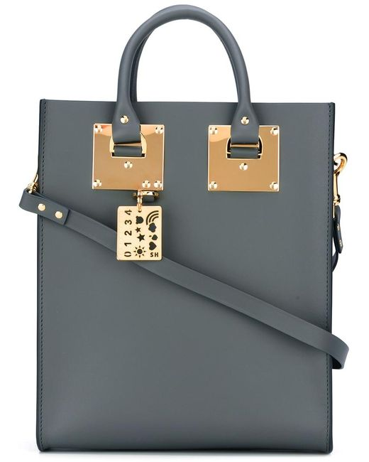 Sophie Hulme | Женское Серый Stylised Stud Detail Shoulder Bag Leather