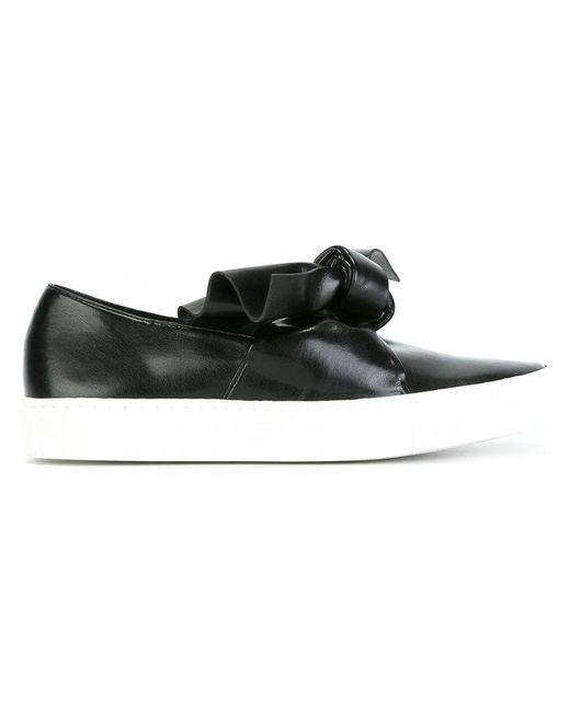 Cedric Charlier   Женское Чёрный Cédric Charlier Oversized Knot Sneakers 41 Leather/Rubber