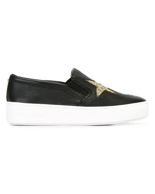 Michael Michael Kors | Женское Чёрный Pia Slip-On Star Sneakers 6.5