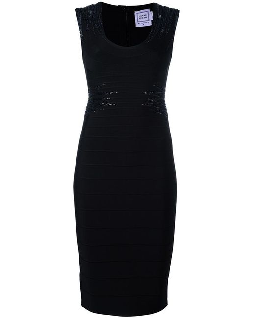Hervé Léger | Женское Чёрный Janelle Dress Small Rayon/Nylon/Spandex/Elastane