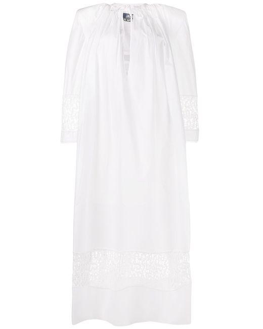 JACQUEMUS   Женское Белый Lace-Detail Maxi Dress 36
