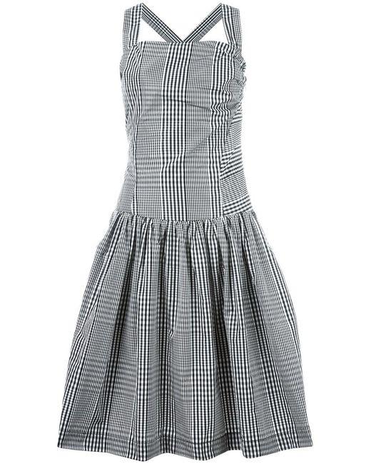 Vivienne Westwood Anglomania | Женское Чёрный Plaid Fla Dress 44 Cotton/Polyester