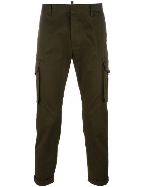 Dsquared2 | Мужское Зелёный Cropped Cargo Pants 50 Cotton/Spandex/Elastane